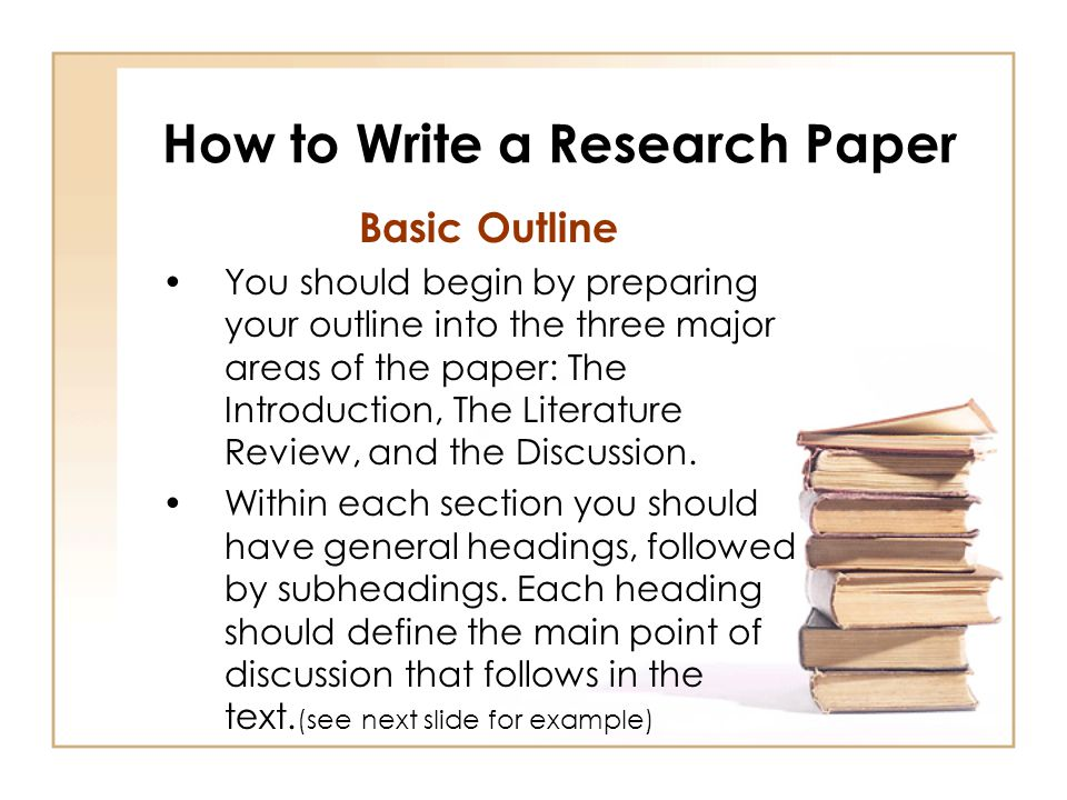 Introductions for research papers