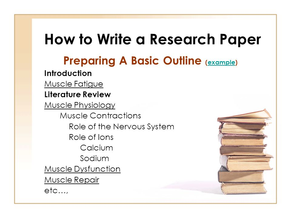 examples of how to write a research paper How to write a science fair project research paper includes key areas for research and sample papers.