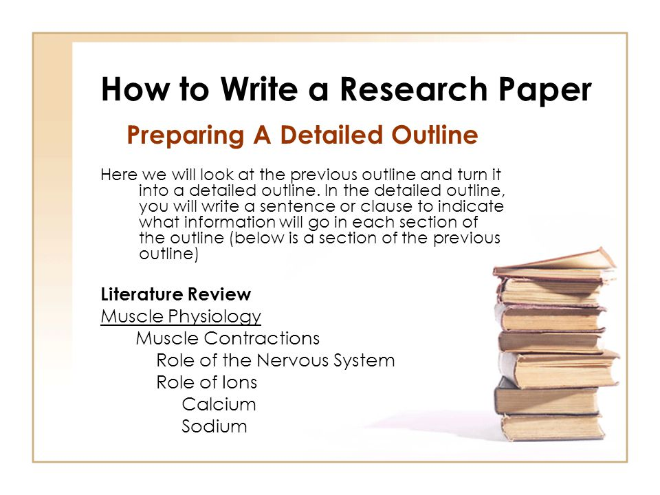 how to write a research outline How to write an outline writing research papers: a complete guide lloyd sealy library john jay college of criminal justice 899 10th avenue.
