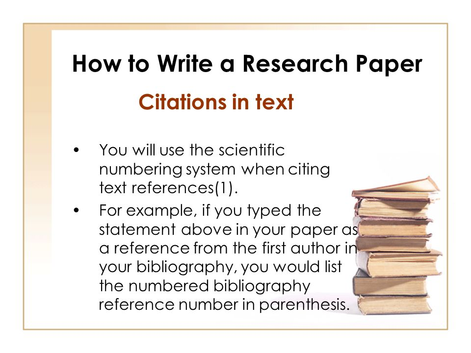 How to write research and term papers