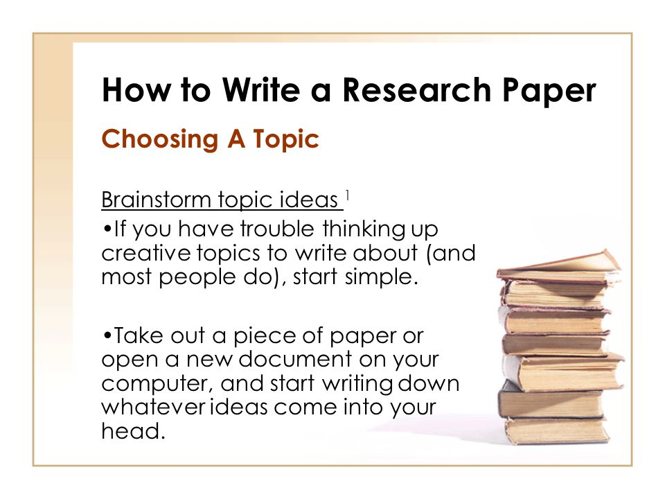 Writing Of Research Paper