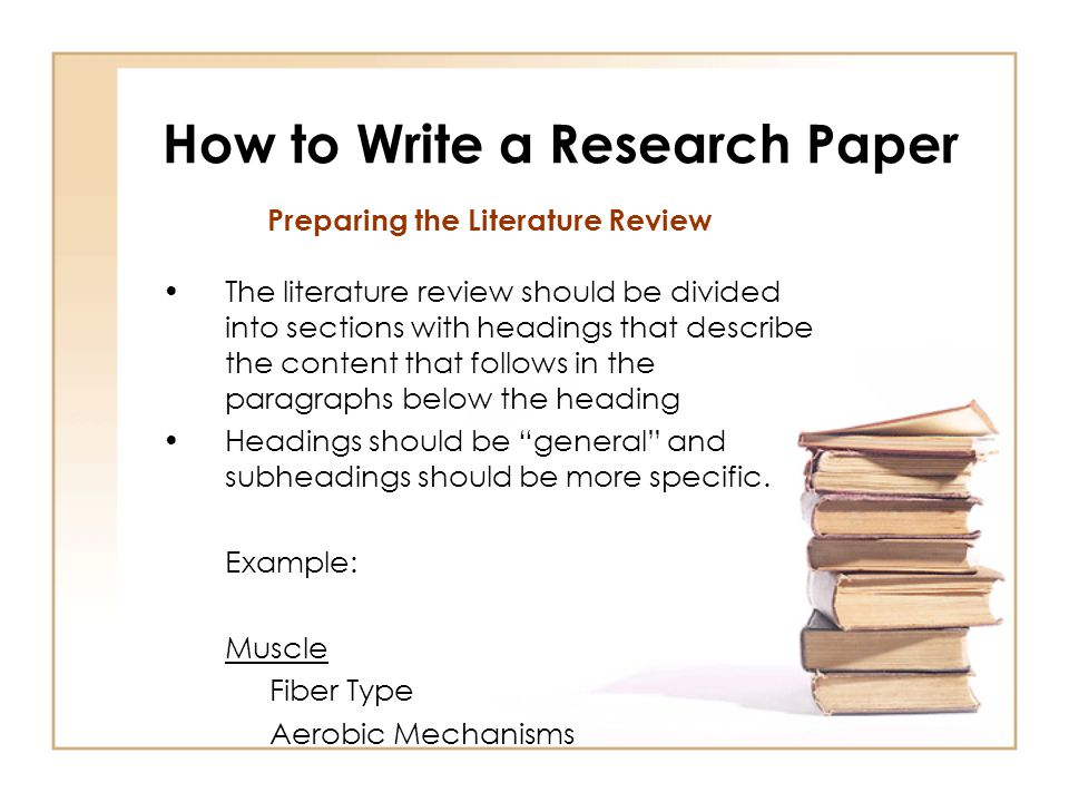 how write a research paper