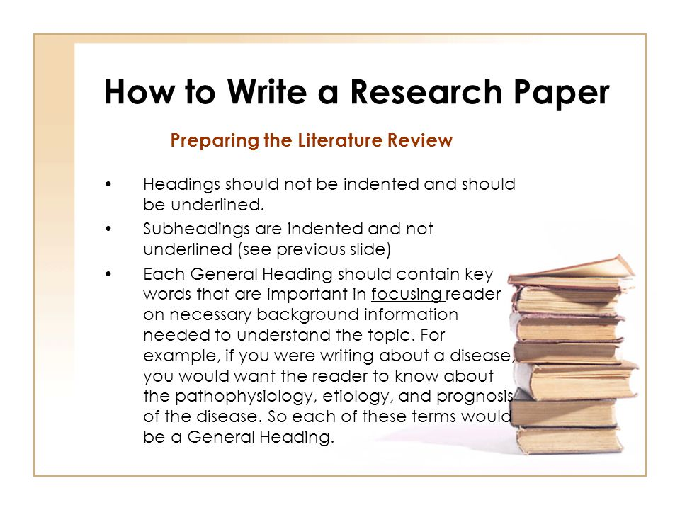 How do you write a research paper