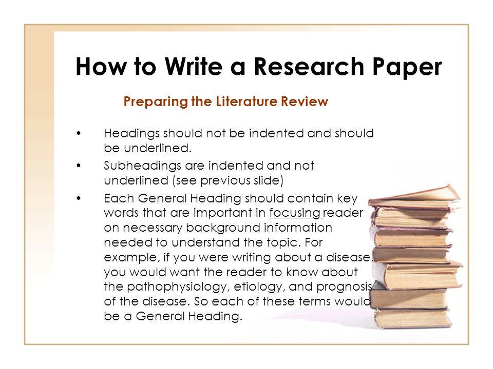 Background information in an essay