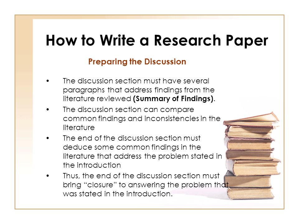 How to write a research paper on research