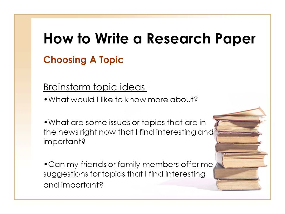 interesting topics to write a research paper on