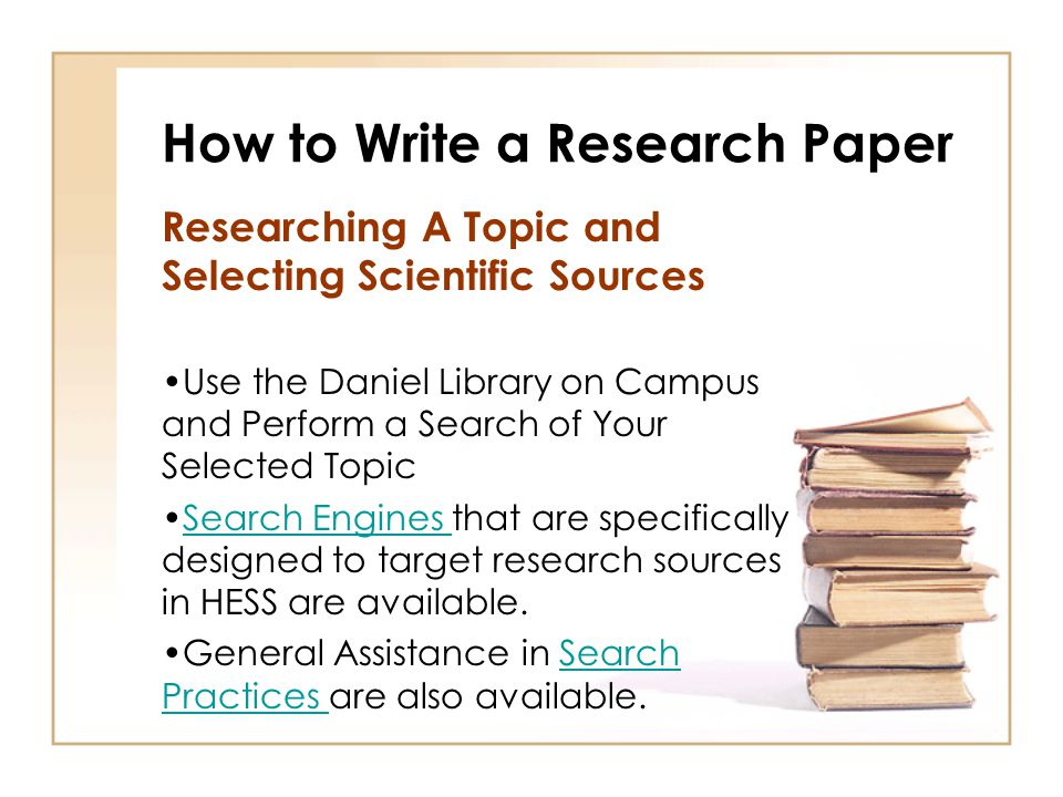 how to write a reseach paper