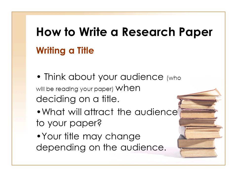 How to write a policy research report