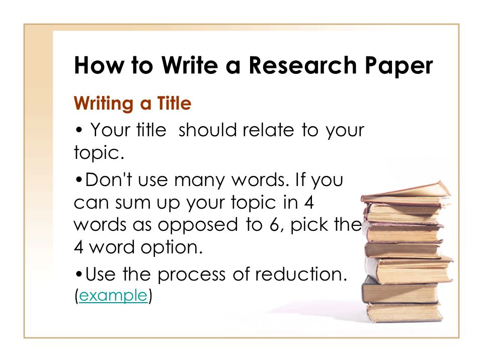 how to choose a title for your research paper