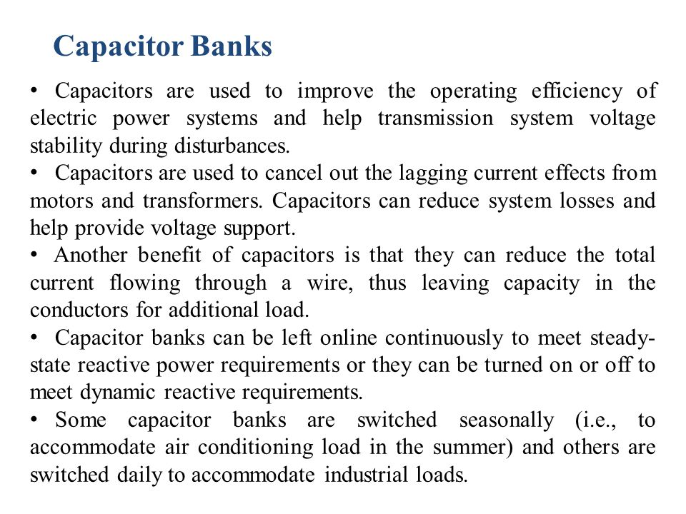 Capacitor Banks