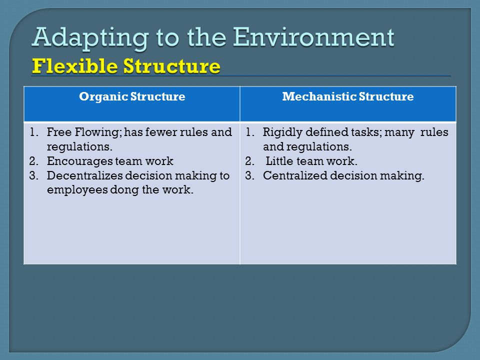 Adapting to the Environment Flexible Structure