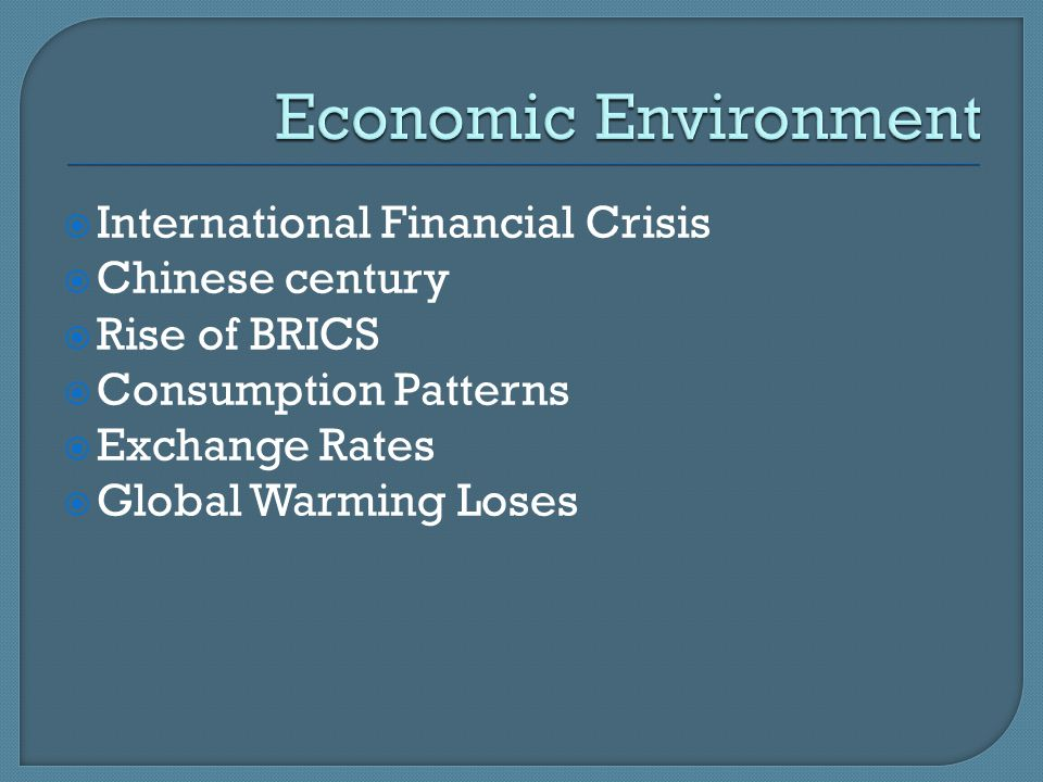 Economic Environment International Financial Crisis Chinese century