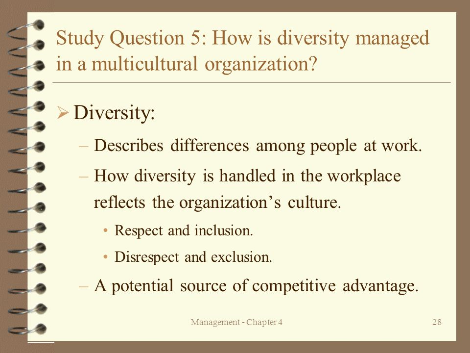 """managing multiculturalism diversity in organizations The article focuses on the management and impact of cultural diversity in sport organizations it is proposed that the potentially constructive or destructive impact of cultural diversity is a function of the management of that diversity, which is ultimately a reflection of organizational culture, or """"how things are done around here."""