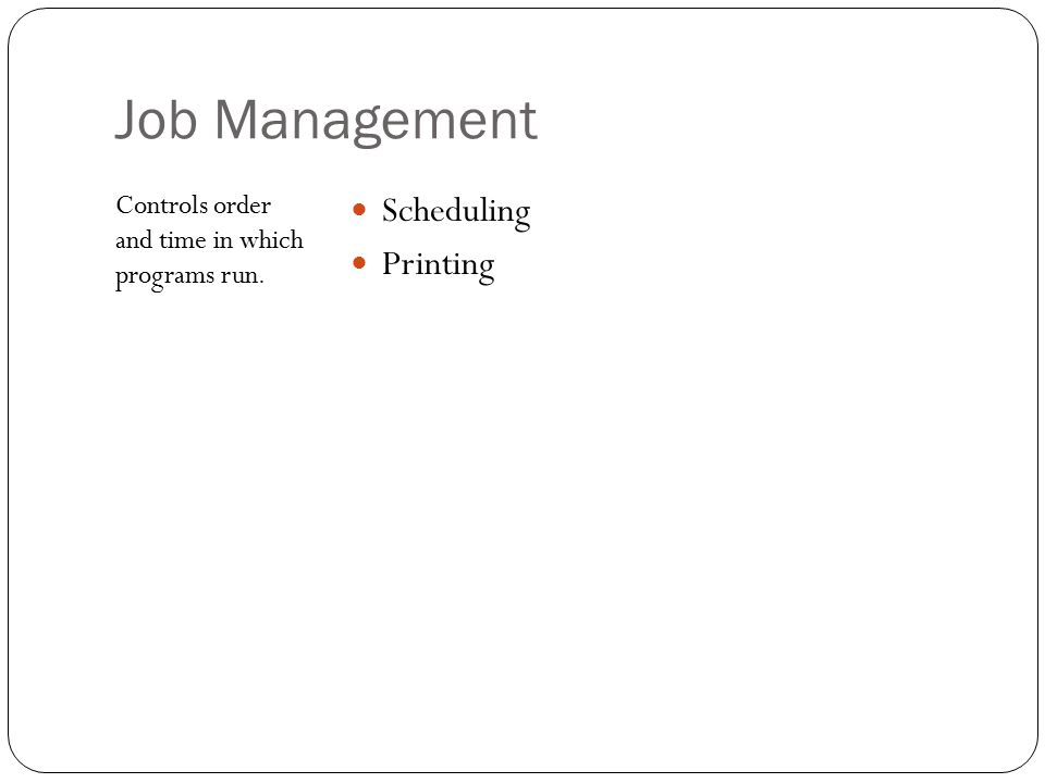 Job Management Scheduling Printing
