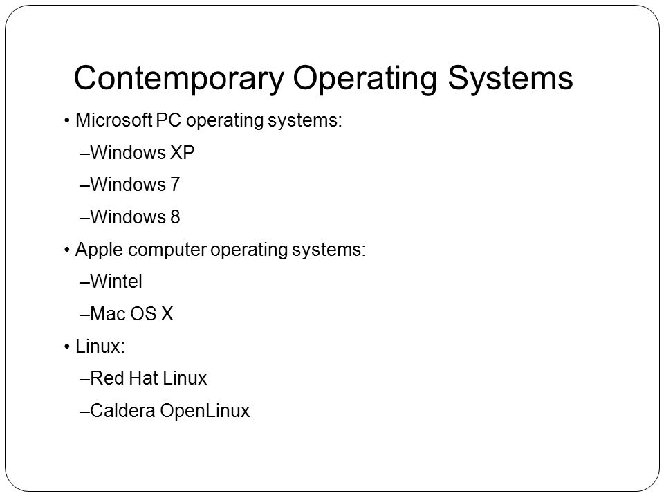 Contemporary Operating Systems