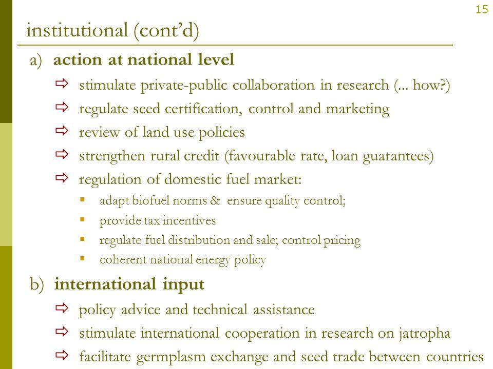 institutional (cont'd)