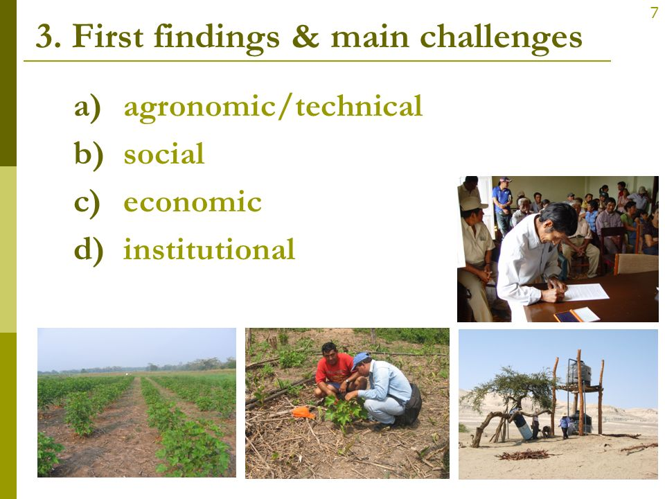 3. First findings & main challenges