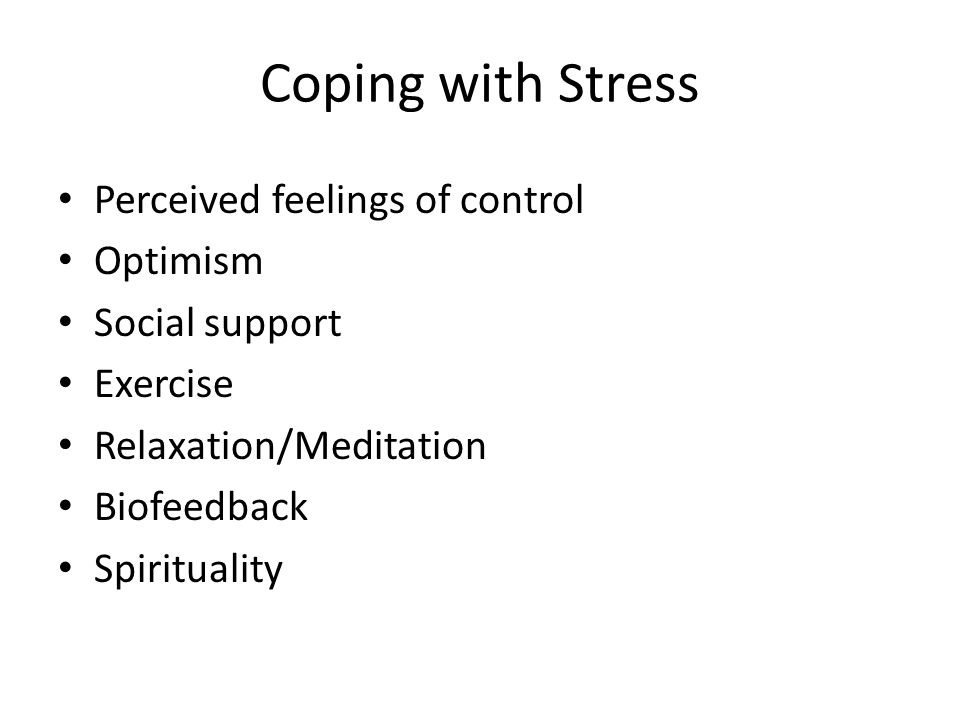 how individuals perceive stress and coping responses Chapter 37 stress and coping objectives change as individuals perceive new information coping is the person of responses to stress that.