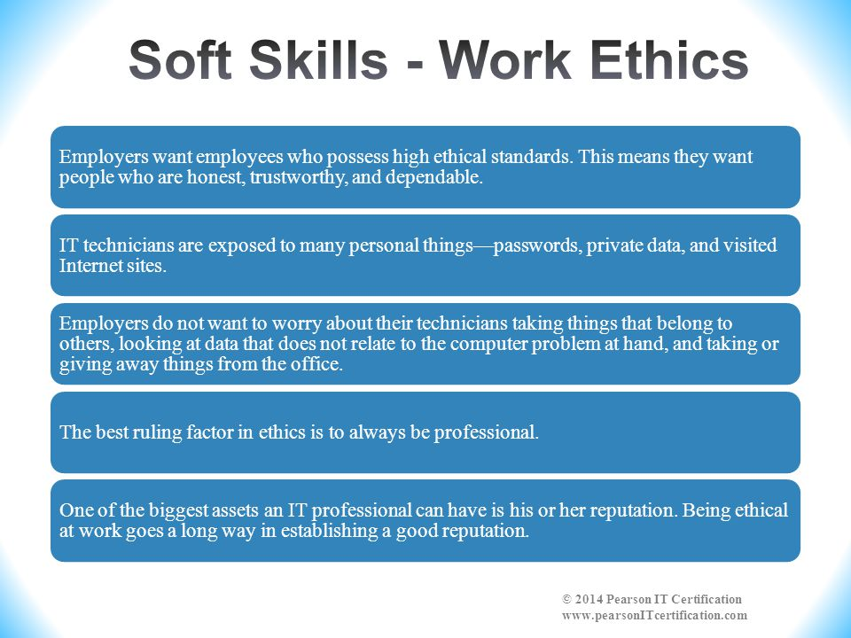 work ethics A: work ethic refers to the act of working hard and diligently often, those with strong work ethic equate working hard with morality and strength of character a good work ethic is characterized by integrity and high quality work.