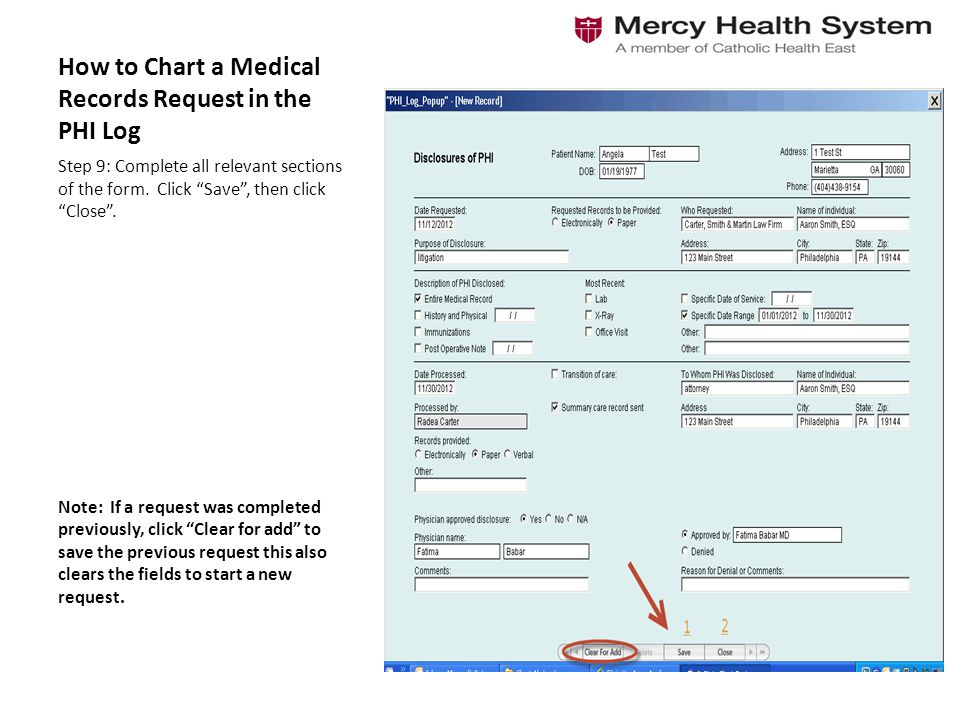 How To Chart A Medical Records Request In The Phi Log - Ppt Video