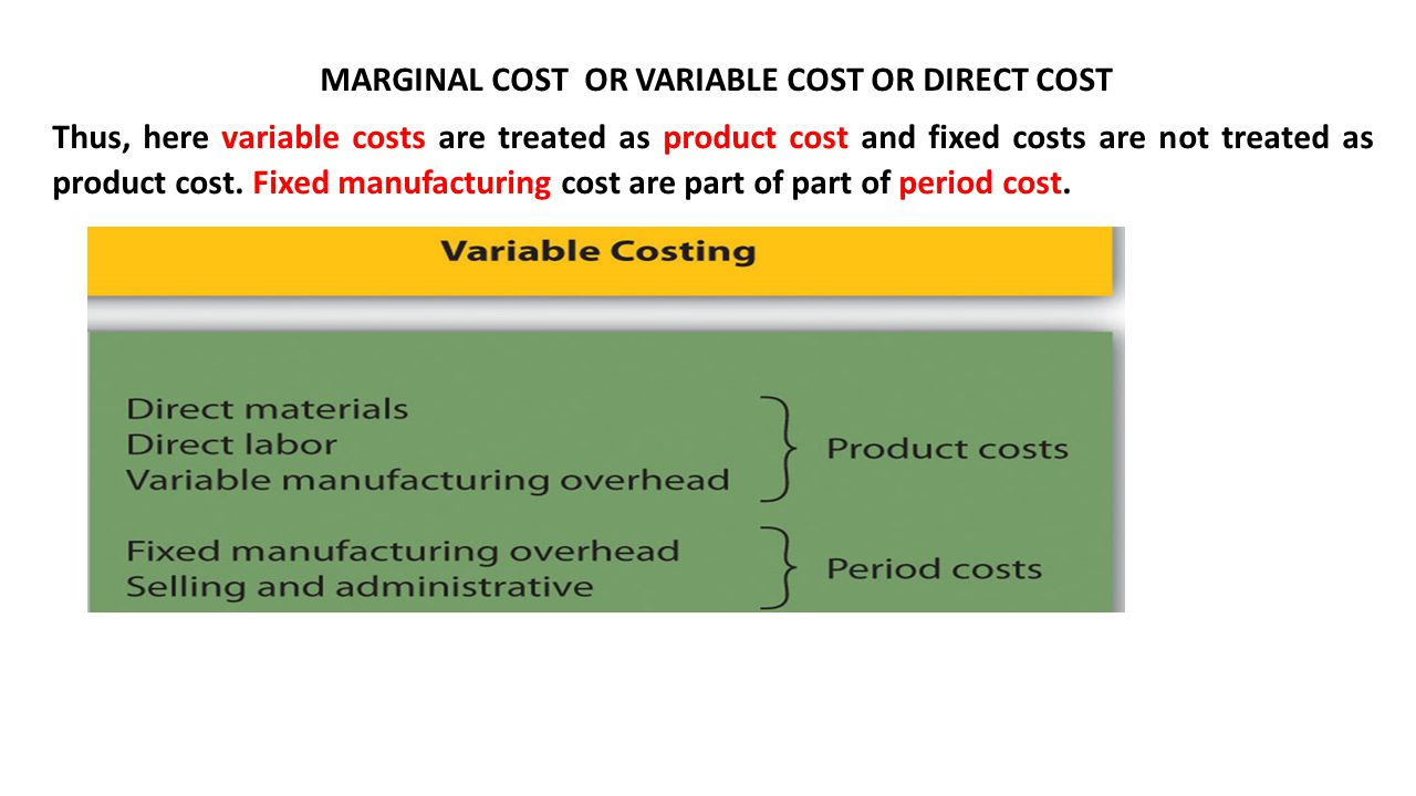 Direct labor as a variable cost