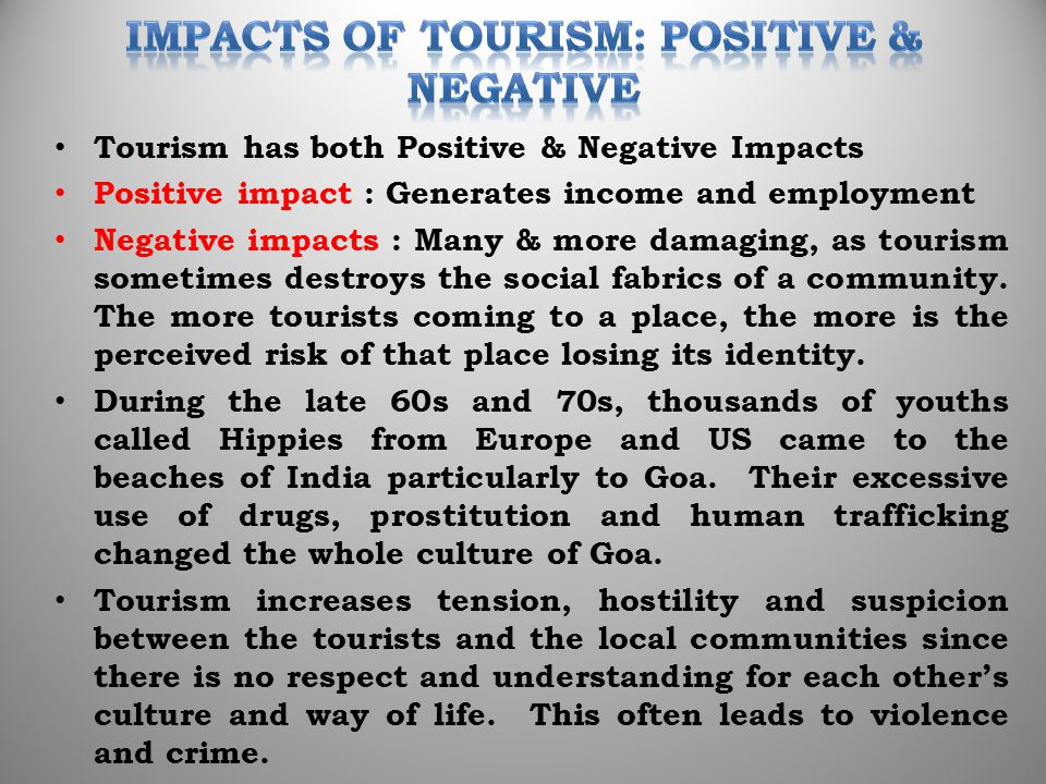 the internet s positive impact on tourism Influence of social media on tourism  with the impact on tourism businesses and tourists  in the tourism sector the world's largest web 20 site.