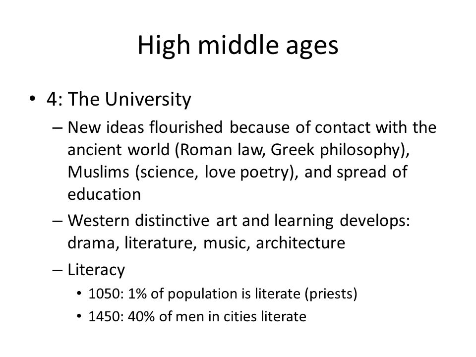 an analysis of the education in the middle ages in europe Popular education during the middle ages an essay on the history of medieval education which shows the major role played by the roman catholic church in providing for.