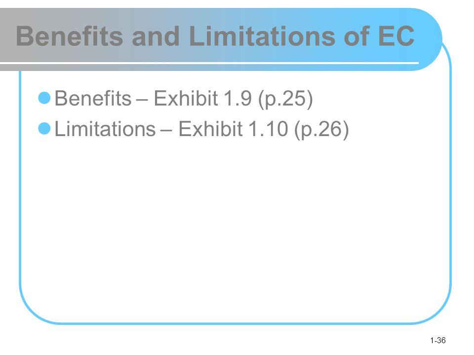 Benefits and Limitations of EC