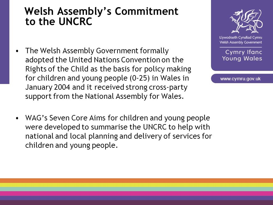 Welsh Assembly's Commitment to the UNCRC