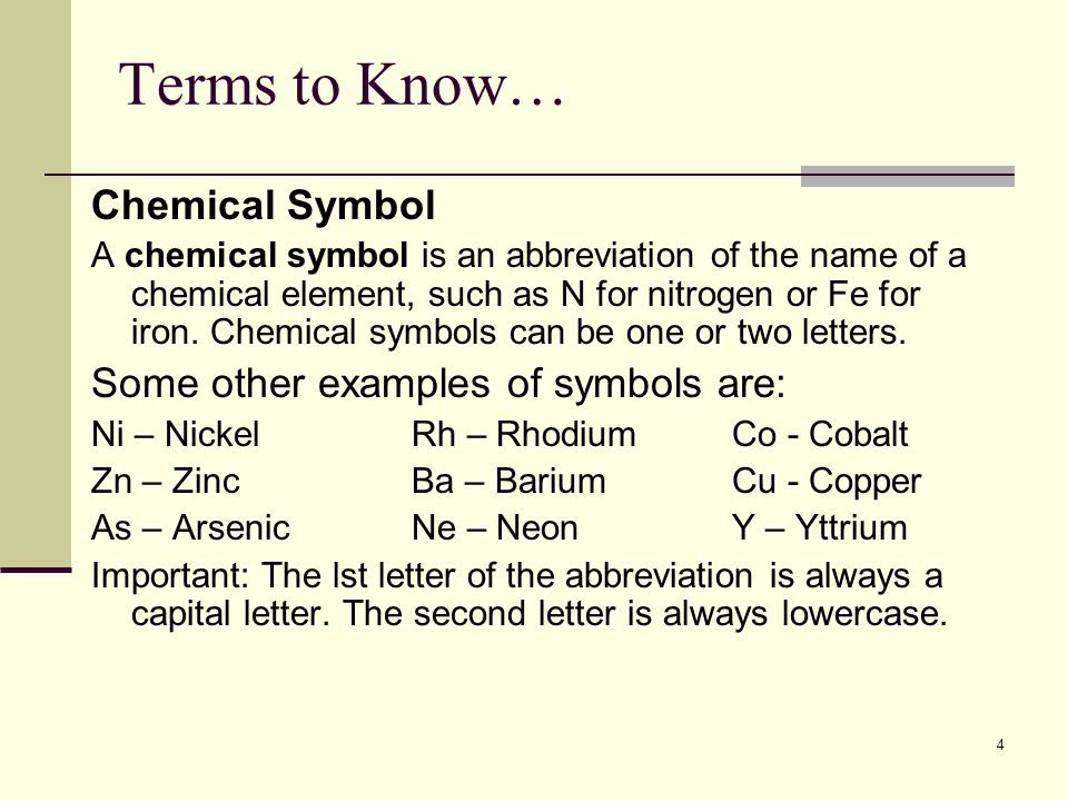 Chemical elements and the periodic table ppt video online download chemical symbol some other examples of symbols are urtaz Choice Image