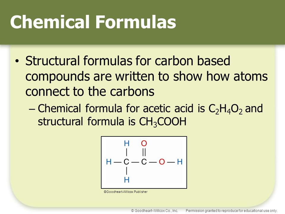 how to make chemical formulas for compounds