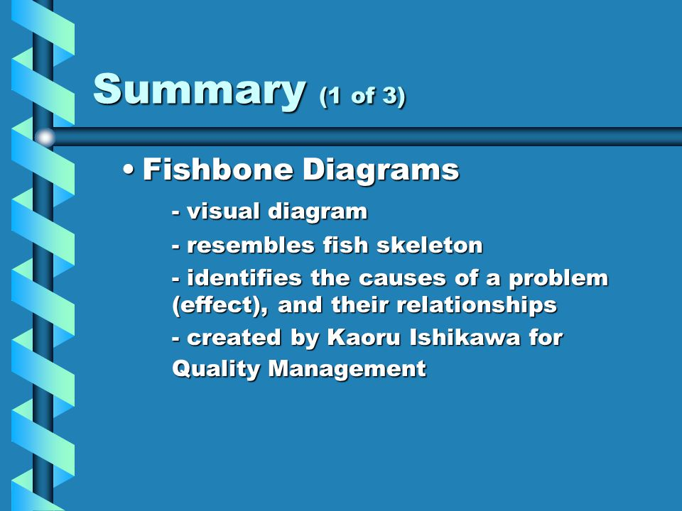 fishbone diagram bibliography The fishbone diagram is an analysis tool that provides a systematic way of looking at effects and the causes that create or contribute to  6 7 7 bibliography 1.