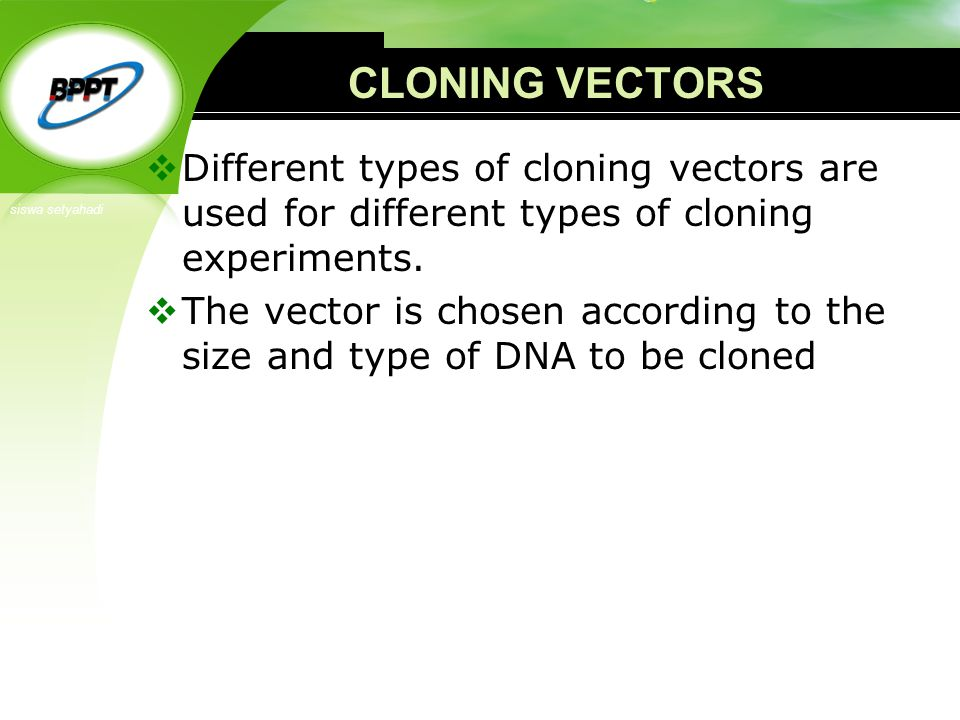 types of cloning Restriction enzyme (endonuclease) based molecular cloning is the classic cloning method, and for many reasons, remains one of the most popular today in a restriction.