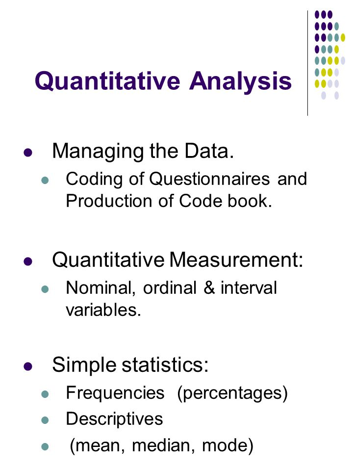 Quantitative Analysis  Ppt Download