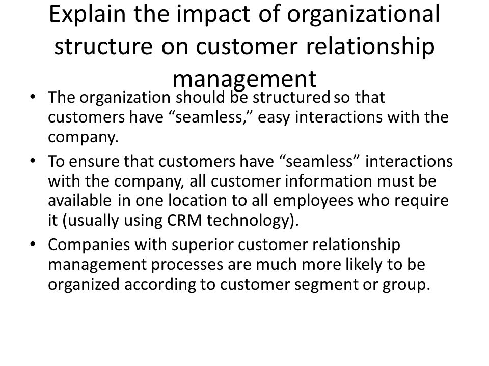 the impact of customer relationship management Arabian journal of business and management review (oman chapter) vol 4, no10 may 2015 30 impact of customer relationship management capabilities on organizational performance with crm.