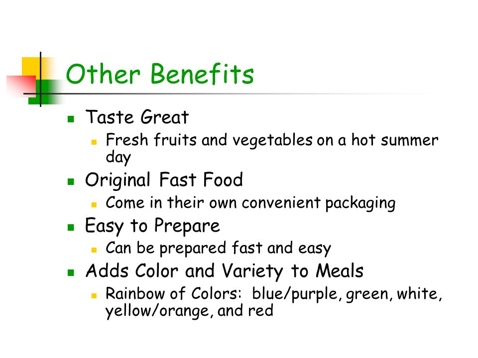 Other Benefits Taste Great Original Fast Food Easy to Prepare
