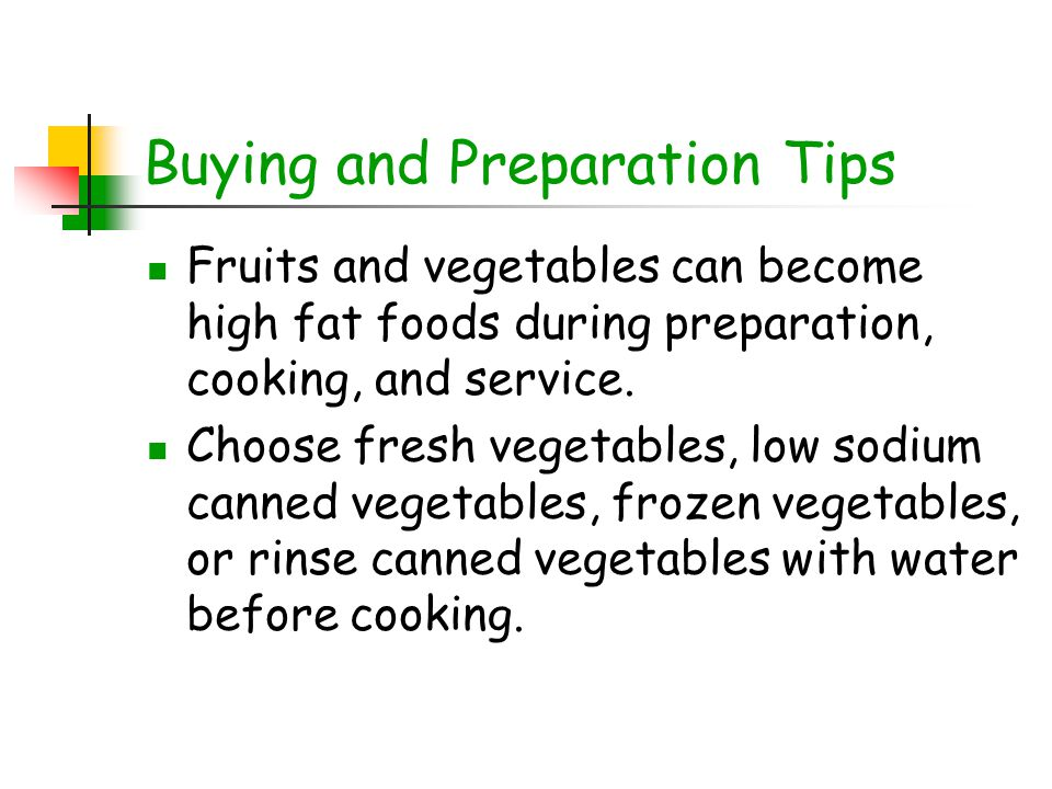 Buying and Preparation Tips