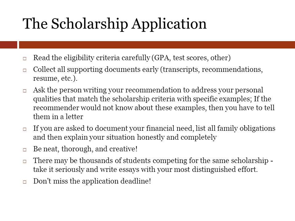 essay writing for scholarship application Sample scholarship application essay - 6+ examples in word, pdf in large part, though, this is all due to the scholarship essay that is required of you, and the make or break character to your scholarship essay can definitely be overwhelming and frightening.
