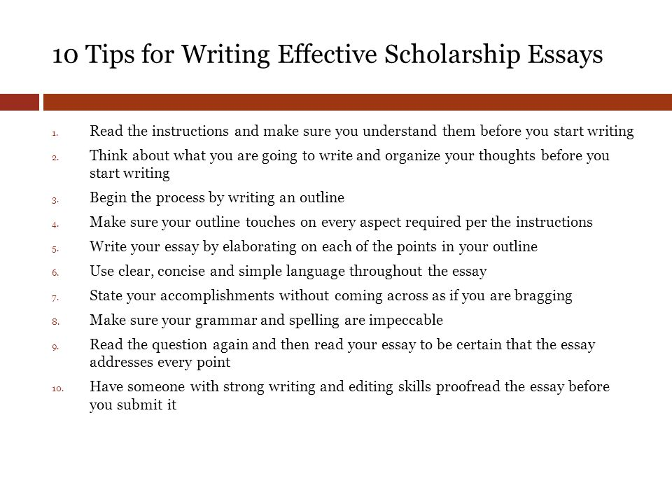 junior class meeting class of ppt  10 tips for writing effective scholarship essays