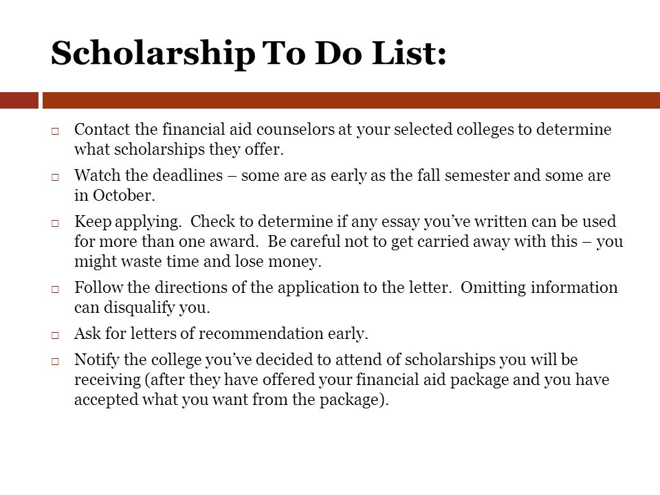 junior class meeting class of ppt 83 scholarship to do list contact the financial aid