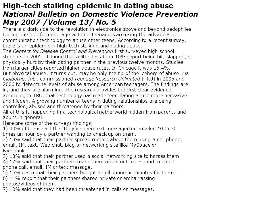 Online dating epidemic