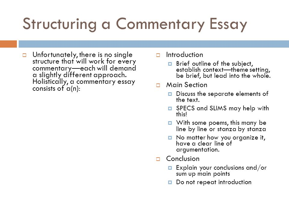 writing an ib commentary ppt video online structuring a commentary essay