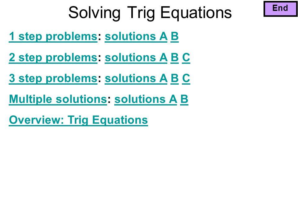 Solving Trig Equations - ppt video online download