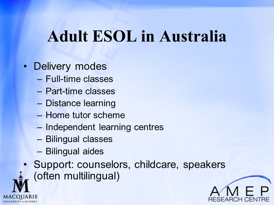 Using this Adult education esol