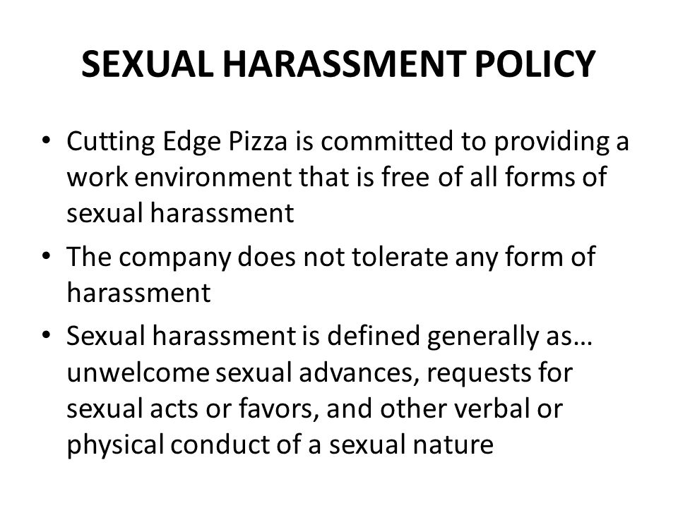 case study on sexual harassment at Sexual harassment case studies warning: these are real life examples and contain language and content which may offend these sexual harassment case summaries are grouped into two categories: court and tribunal decisions, and conciliated outcomes.