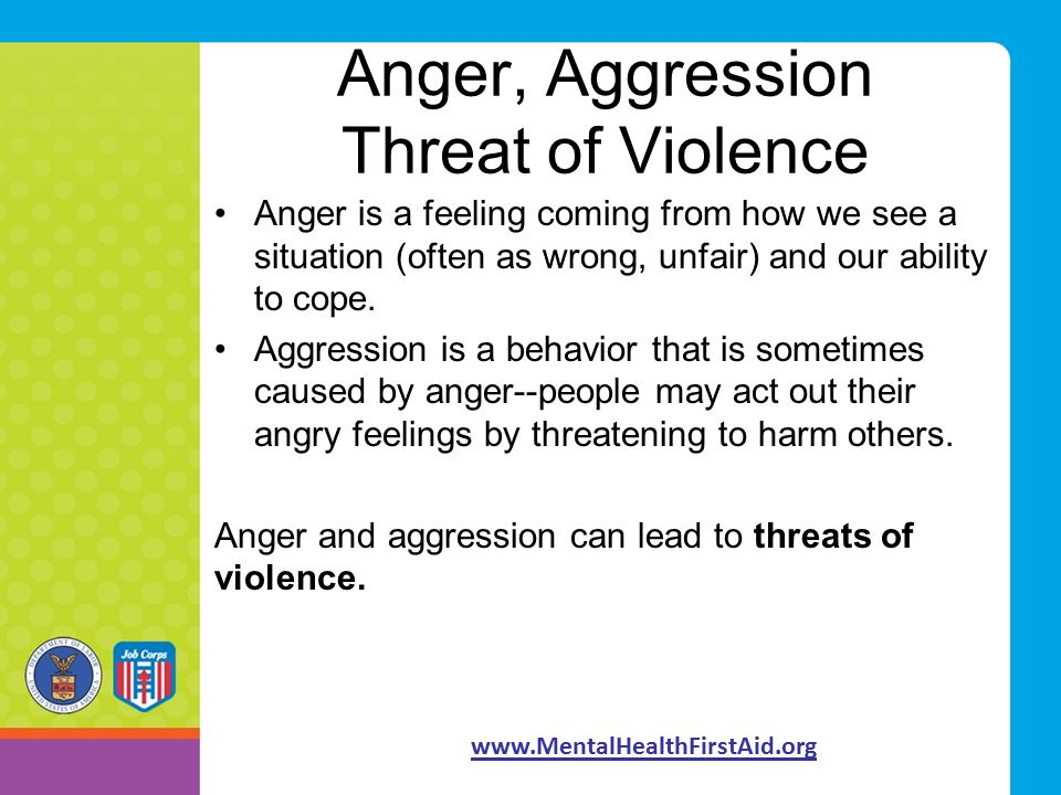 anger and aggression The relationship between anger and aggression is imperfect based on work on  the neuroscience of anger, we predicted that anger associated.