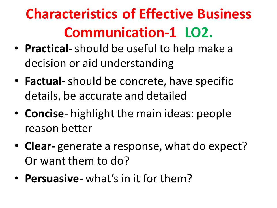 characteristic of business communication 2 天前  understanding your communication style good communication skills require a high level of self-awareness understanding your personal style of communicating will go a long way toward helping you to create good and lasting impressions on others.