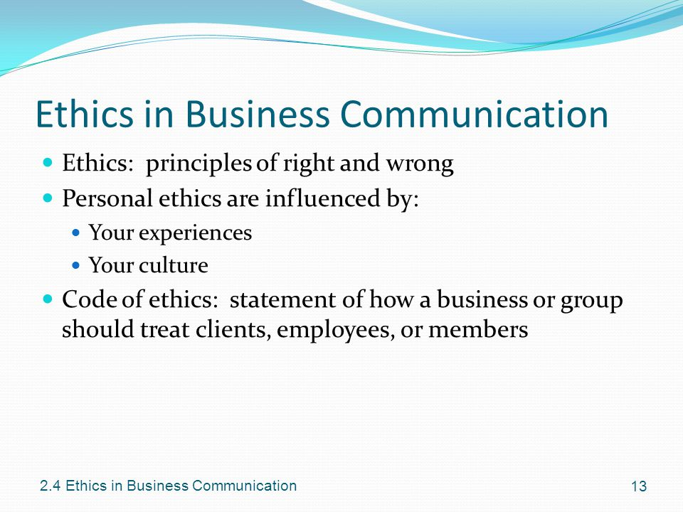 Defining And Communicating Ethics In Your Business
