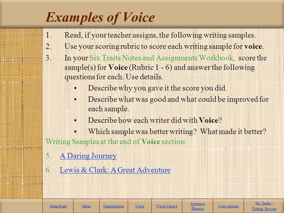 6 trait writing rubric research paper We help teachers and students reach their writing goals in classrooms across the us and the world we'd like to help you, too get to know us from our website which is designed to be enjoyable and informative—with lots of goodies for you to download and use right away mentor texts, the traits, and writing workshops, using materials published by scholastic and stenhouse, are our.