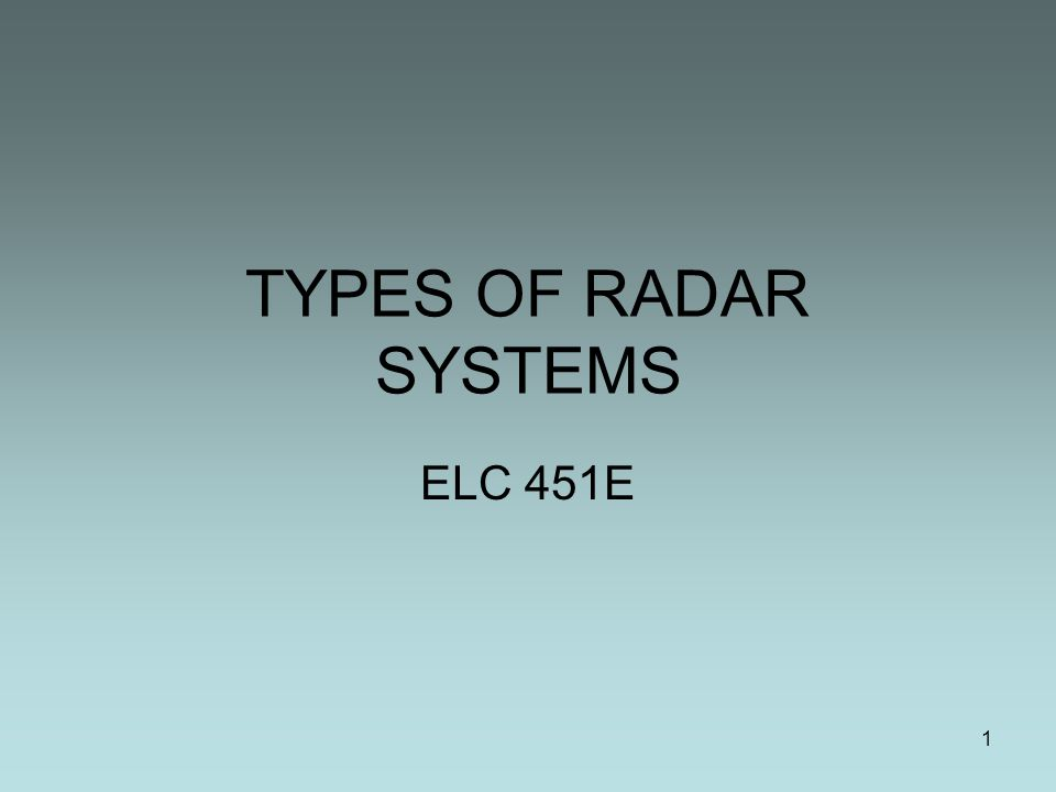 types of radars Used, with current radars using wavelengths from as small as 1 mm up to 1 m  radar was first fully exploited by the british army in the 1930s.